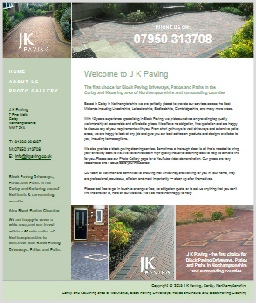 JK Paving Corby Northants