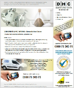 DHC Services Website, Thrapston, Northants