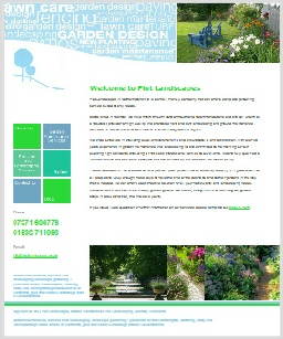 Plot Landscapes Website, Northants