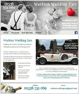Warkton Wedding Cars, Kettering Northants